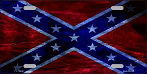 Confederate Flag Foiled Novelty Wholesale Metal License Plate
