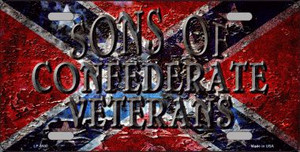 Sons Of Confederate Veterans Novelty Wholesale Metal License Plate