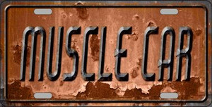 Muscle Car Wholesale Novelty Metal License Plate