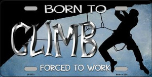 Born To Climb Wholesale Novelty Metal License Plate