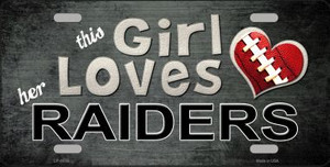 This Girl Loves Her Raiders Wholesale Novelty Metal License Plate