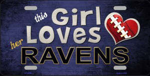 This Girl Loves Her Ravens Wholesale Novelty Metal License Plate