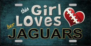 This Girl Loves Her Jaguars Wholesale Novelty Metal License Plate