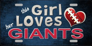 This Girl Loves Her Giants Wholesale Novelty Metal License Plate