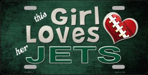 This Girl Loves Her Jets Wholesale Novelty Metal License Plate