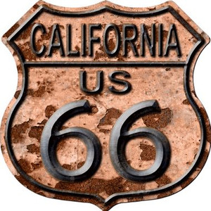 California Route 66 Rusty Wholesale Metal Novelty Highway Shield