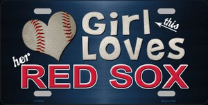This Girl Loves Her Red Sox Novelty Wholesale Metal License Plate