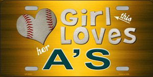 This Girl Loves Her Athletics Novelty Wholesale Metal License Plate