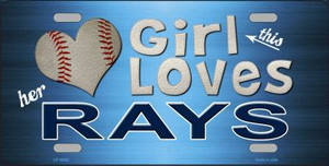 This Girl Loves Her Rays Novelty Wholesale Metal License Plate