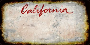 California State Background Rusty Novelty Wholesale Metal License Plate