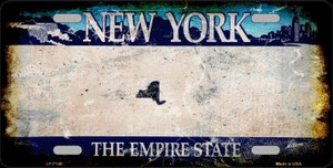 New York State Background Rusty Novelty Wholesale Metal License Plate