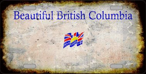 British Columbia Rusty Novelty Wholesale Metal License Plate