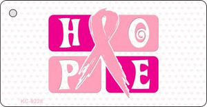 Hope Breast Cancer Ribbon Wholesale Novelty Key Chain