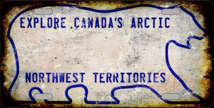Northwest Territories Rusty Novelty Wholesale Metal License Plate