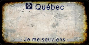 Quebec Background Rusty Novelty Wholesale Metal License Plate
