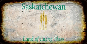 Saskatchewan Background Rusty Novelty Wholesale Metal License Plate