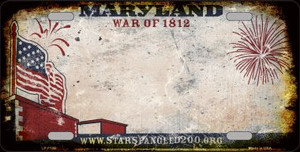 Maryland State Background Rusty Novelty Wholesale Metal License Plate
