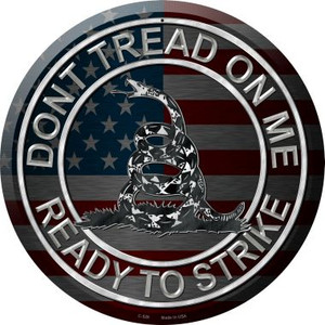 Don't Tread On Me Wholesale Novelty Metal Circular Sign