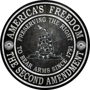 Americas Freedom Wholesale Novelty Metal Circular Sign