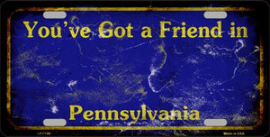Pennsylvania Background Rusty Novelty Wholesale Metal License Plate