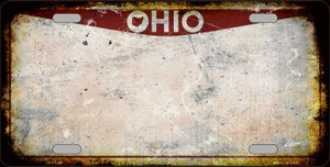 Ohio Background Rusty Novelty Wholesale Metal License Plate