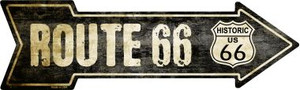 Vintage Route 66 Wholesale Novelty Metal Arrow Sign