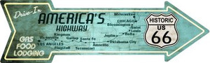 Americas Highway Drive In Wholesale Novelty Metal Arrow Sign