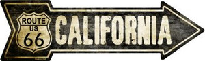 Vintage Route 66 California Wholesale Novelty Metal Arrow Sign