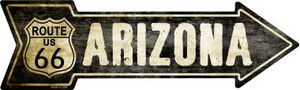 Vintage Route 66 Arizona Wholesale Novelty Metal Arrow Sign