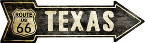 Vintage Route 66 Texas Wholesale Novelty Metal Arrow Sign