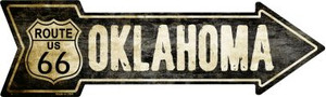 Vintage Route 66 Oklahoma Wholesale Novelty Metal Arrow Sign