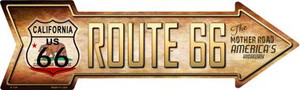 Route 66 California Flag Wholesale Novelty Metal Arrow Sign