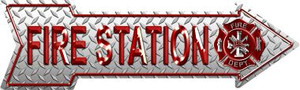 Fire Station Wholesale Novelty Metal Arrow Sign