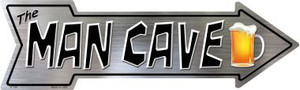 The Man Cave Wholesale Novelty Metal Arrow Sign
