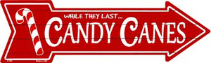 Candy Canes Wholesale Novelty Metal Arrow Sign