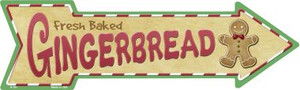 Gingerbread Wholesale Novelty Metal Arrow Sign
