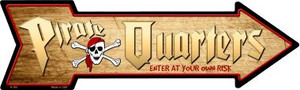 Pirate Quarters Wholesale Novelty Metal Arrow Sign