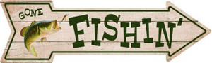 Fishin Wholesale Novelty Metal Arrow Sign