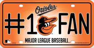 Baltimore Orioles Fan Wholesale Metal Novelty License Plate