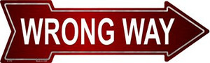 Wrong Way Wholesale Novelty Metal Arrow Sign