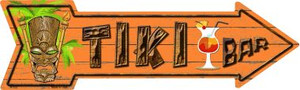 Tiki Bar Wholesale Novelty Metal Arrow Sign