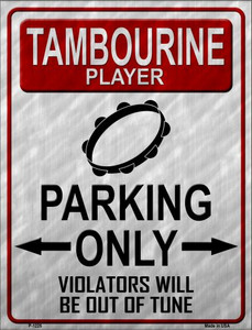 Tambourine Player Parking Wholesale Metal Novelty Parking Sign