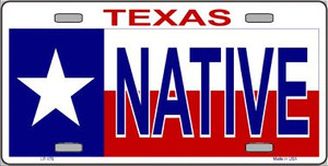 Native Texas Wholesale Metal Novelty License Plate LP-176
