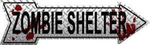 Zombie Shelter Wholesale Novelty Metal Arrow Sign