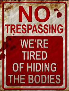 No Trespassing Wholesale Metal Novelty Parking Sign