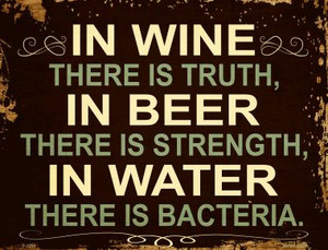 In Wine There is Truth Wholesale Metal Novelty Parking Sign