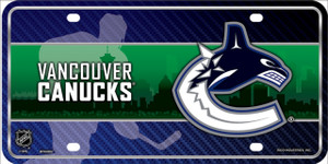 Vancouver Canucks Wholesale Metal Novelty License Plate