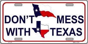 Don't Mess With Texas Wholesale Metal Novelty License Plate LP-178