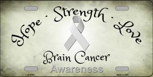 Brain Cancer Ribbon Novelty Wholesale Metal License Plate