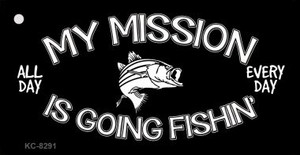 My Mission Is Fishin Wholesale Novelty Key Chain